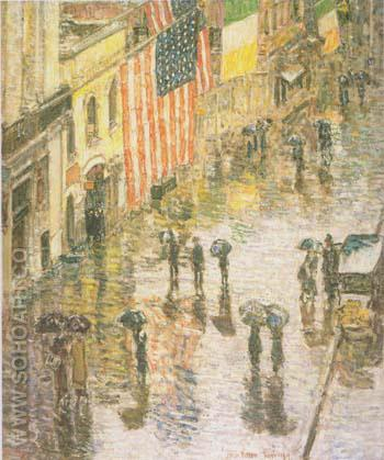 St Patrick s Day 1919 - Childe Hassam reproduction oil painting