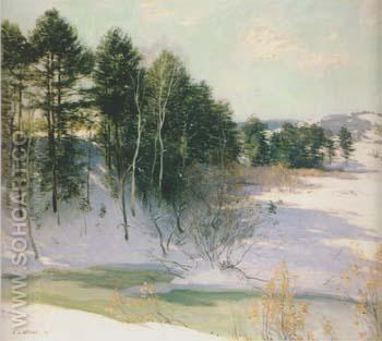 Thawing Brook 1911 - Willard Leroy Metcalfe reproduction oil painting