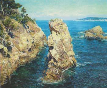 Point Lobos  1918 - Guy Rose reproduction oil painting
