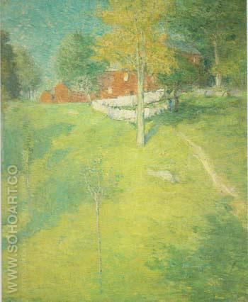 The Laundry Branchville 1894 - Julian Alden Weir reproduction oil painting