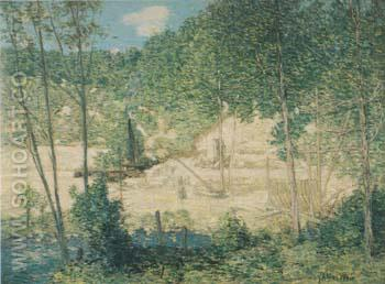 The Building of the Dam 1908 - Julian Alden Weir reproduction oil painting