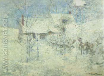 Snowbound 1895 - John Henry Twachtman reproduction oil painting