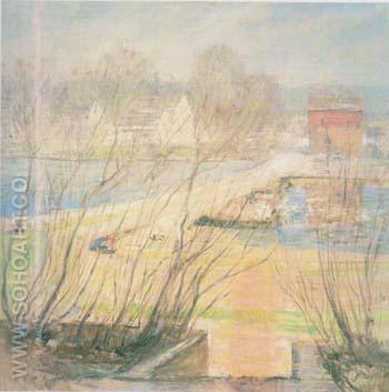 From the Holley House Cos Cob 1901 - John Henry Twachtman reproduction oil painting