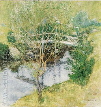 The White Bridge c1890 - John Henry Twachtman reproduction oil painting
