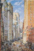 Broad Street Canon New York c 1904 - Colin Campbell Cooper