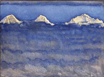 L Eiger le Monch et la Jungfrau au dessus - Ferdinand Hodler reproduction oil painting