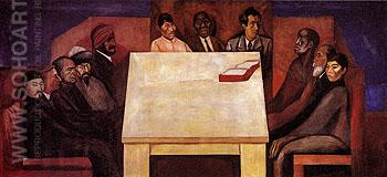 Table of Universal Brotherhood c1930 - Jose Clemente Orozco reproduction oil painting