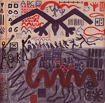 System Painting End 1969 - A R Penck reproduction oil painting