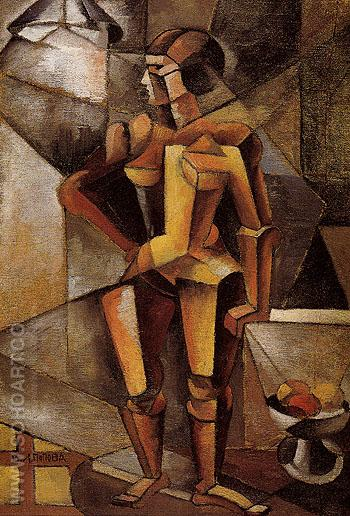 Cubist Nude 1913 - Llubov Popova reproduction oil painting