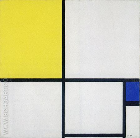 Composition with Blue and Yellow 1929 - Piet Mondrian reproduction oil painting