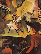 Russian Ballet l 1912 - August Macke reproduction oil painting