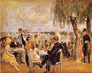 Garden Cafe on the Elbe - Max Liebermann reproduction oil painting