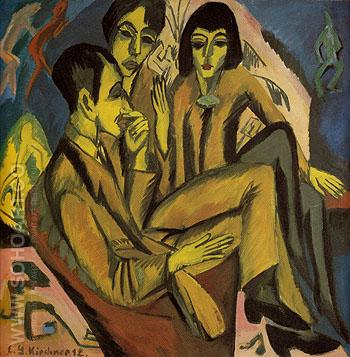 Group of Artists 1912 - Ernst Kirchner reproduction oil painting