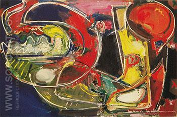 Apparition 1949 - Hans Hofmann reproduction oil painting
