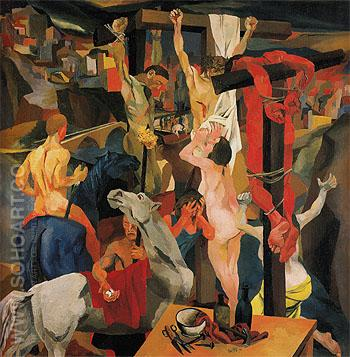 The Crucifixion 1941 - Renato Guttuso reproduction oil painting