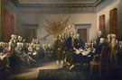 The Declaration of Independence 4 July 1776 - John Trumbull reproduction oil painting