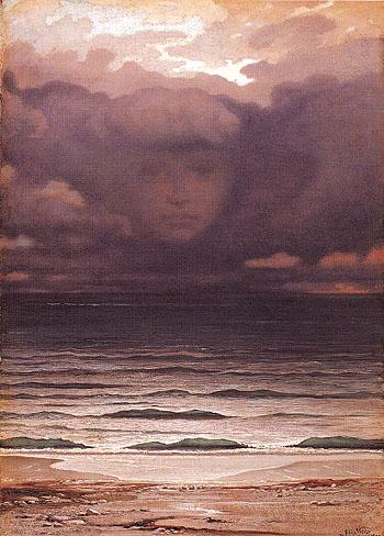 Memory 1870 - Elihu Vedder reproduction oil painting