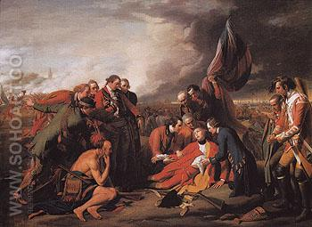 The Death of General Wolfe 1770 - Benjamin West reproduction oil painting