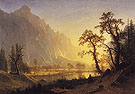 Sunrise Yosemite Valley c1870 - Albert Bierstadt
