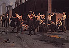 The Ironworkers Noontime 1880 - Thomas Anshutz reproduction oil painting
