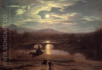 Moonlit Landscape 1819 - Washington Allston reproduction oil painting