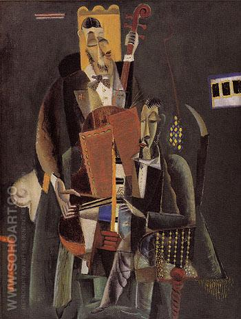 Two Musicians 1917 - Max Weber reproduction oil painting