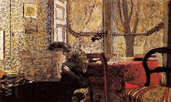 The Newspaper c1910 - Edouard Vuillard reproduction oil painting