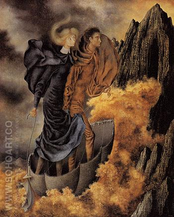 The Flight 1962 - Remedios Varo reproduction oil painting