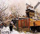 The Moulin de la Galette in Snow 1923 - Maurice Utrillo
