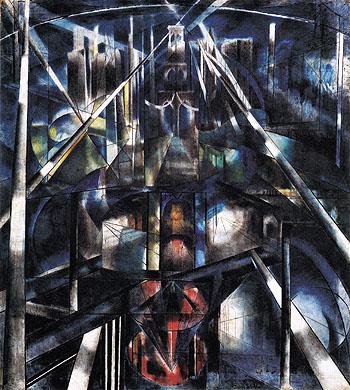 Brooklyn Bridge c1918 - Joseph Stella reproduction oil painting