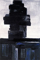 PS  Untitled 1956 - Pierre Soulages