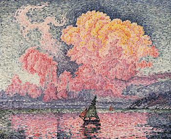 Antibes The Pink Cloud 1916 - Paul Signac reproduction oil painting