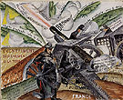 Cannons in Action Words on Liberty and Forms 1915 - Gino Severini