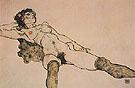 Recumbent Female Nude with Legs Apart 1914 - Egon Scheile