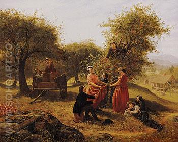 Apple Gathering 1856 - Jerome Thompson reproduction oil painting