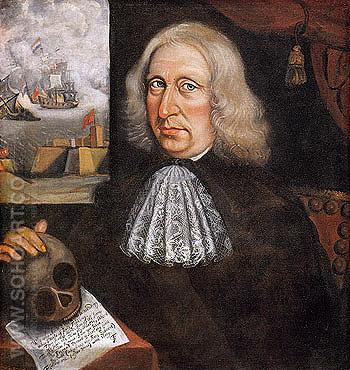 Self Portrait c1680 - Thomas Smith reproduction oil painting