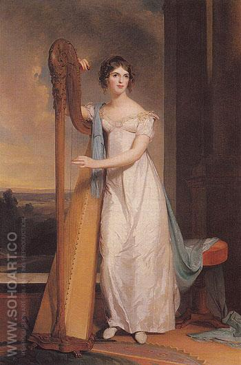 Lady with a Harp Eliza Ridgely 1818 - Thomas Sully reproduction oil painting