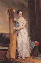 Lady with a Harp Eliza Ridgely 1818 - Thomas Sully