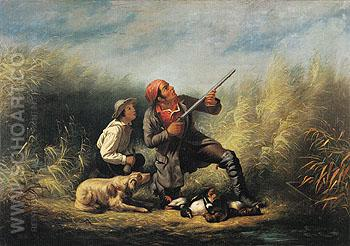 On the Wing c1850 - William Tylee Ranney reproduction oil painting