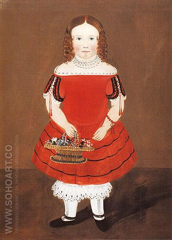 Girl in a Red Dress c1845 - William Matthew Prior reproduction oil painting