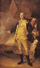 Washington at the Battle of Princeton January 3 1777 1784 - Charles Willson Peale reproduction oil painting
