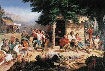 Sunday Morning in the Mines 1872 - Charles Christian Nahl reproduction oil painting