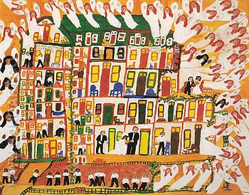 New Jerusalem 1972 - Sister Gertrude Morgan reproduction oil painting
