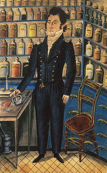 Portrait of Dr Christian Bucher c1830 - Jacob reproduction oil painting