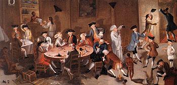 Sea Captains Carousing in Surinam 1758 - John Greenwood reproduction oil painting