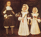 The Mason Children David Joanna and Abigail 1670 - The Painter Freake Gibbs reproduction oil painting