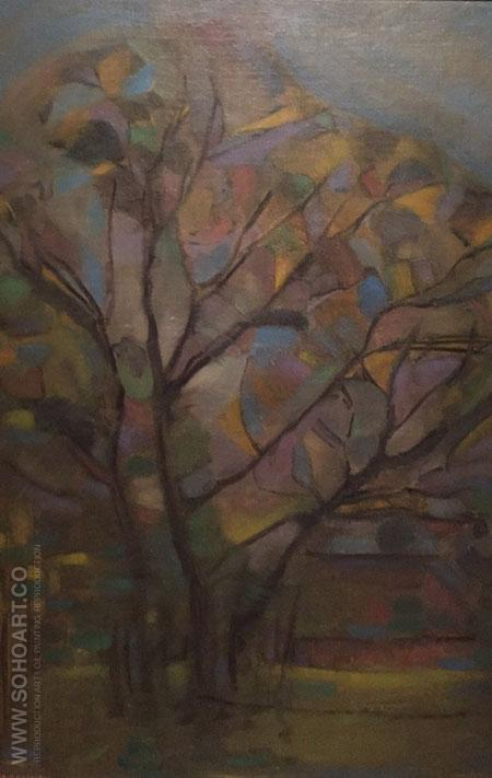 The Tree c1908 - Piet Mondrian reproduction oil painting