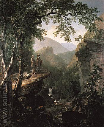 Kindred Spirits 1849 - Asher Brown Durand reproduction oil painting