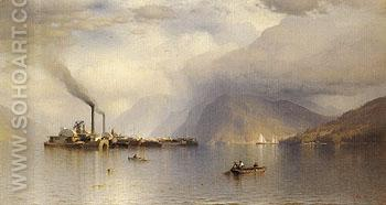 Storm King on the Hudson 1866 - Samuel Colman reproduction oil painting