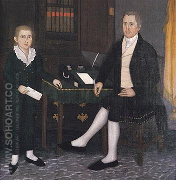 James Prince and Son William Henry 1801 - John Brewster reproduction oil painting
